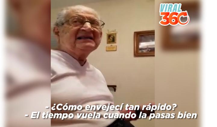 Reacción de un abuelo al ver que tiene 98 años se vuelve viral