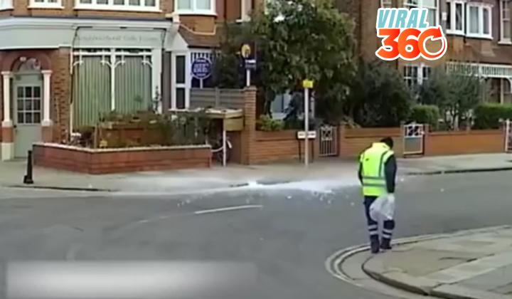 Bloque de hielo cae del cielo y casi mata a un hombre
