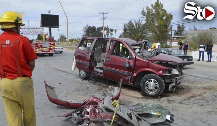 Percance vial en la carretera Torreón-Matamoros