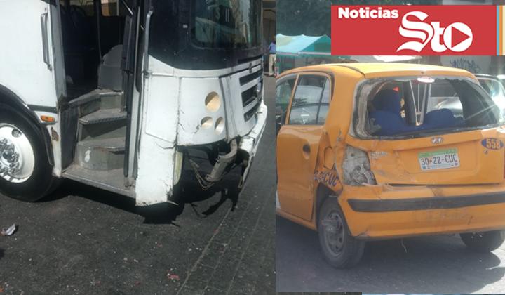 Choque entre un camión y taxi deja tres lesionados en Torreón