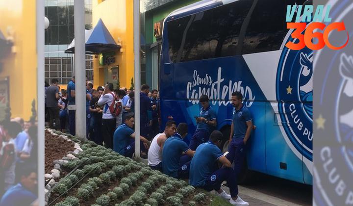 Jugadores del Puebla evacuan hotel por sismo