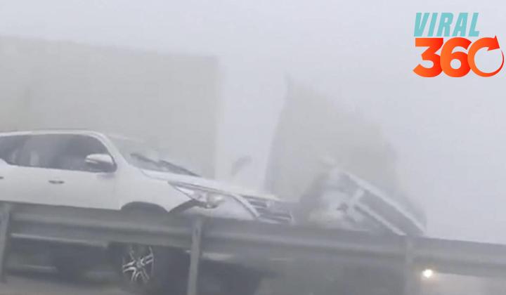 Escalofriante accidente entre 44 automóviles