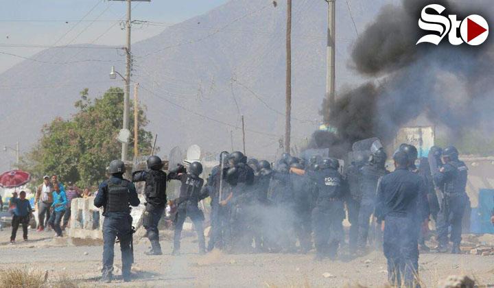 Protesta contra fábrica deriva en violento enfrentamiento