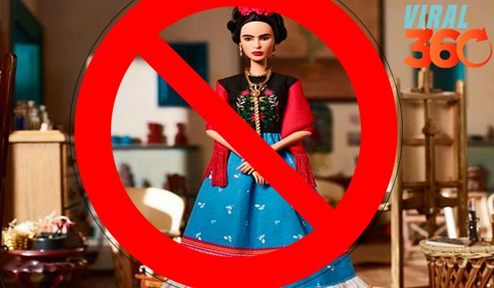 No autorizan usar la imagen de Frida en Barbie