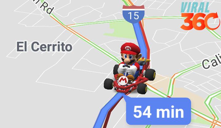Mario invade Google Maps