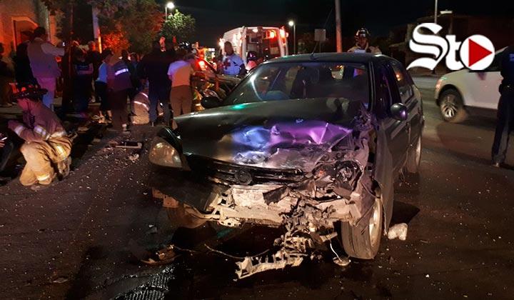 Fuerte impacto deja una mujer herida en Durango