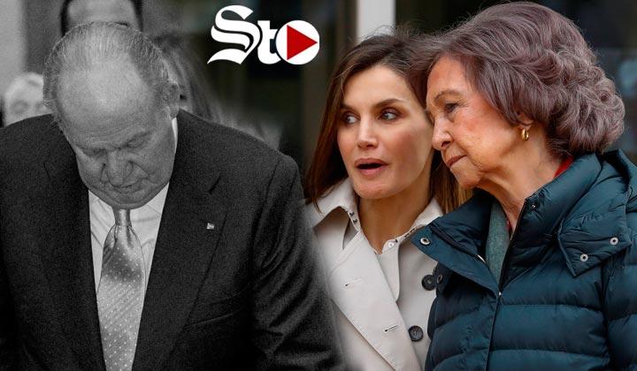 Rey Juan Carlos cae en el hospital tras pelea de reinas