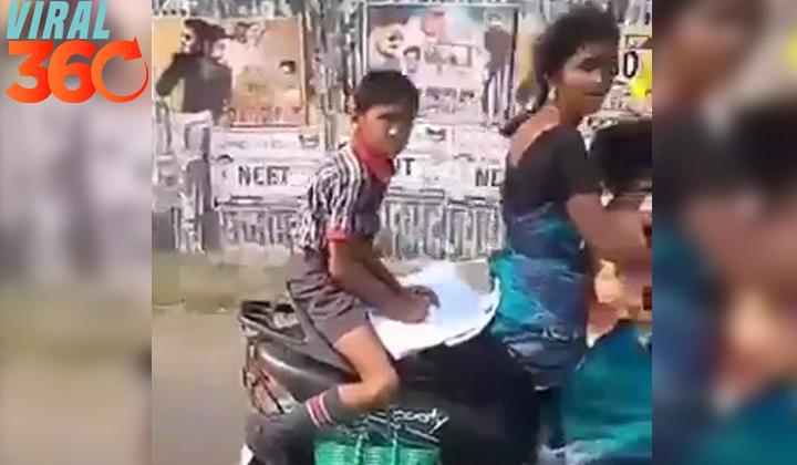 Realiza su tarea mientras va en motocicleta