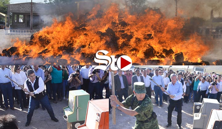 Destruyen 300 millones de pesos de incautaciones en Coahuila