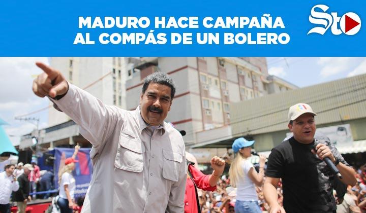 Maduro hace campaña al ritmo de un bolero