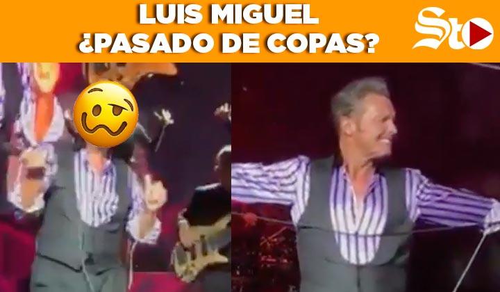 Luis Miguel canta... ¿pasado de copas?