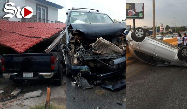 Mañana de múltiples accidentes en Torreón