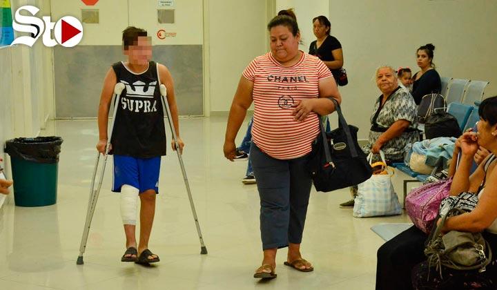 Madre de niño herido en La Jabonera se queja de falta de apoyo