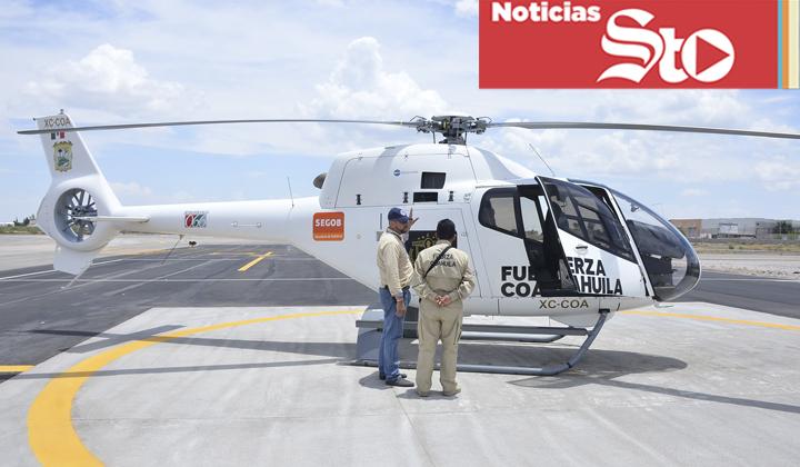 Inicia operativo de seguridad en La Laguna con helicóptero