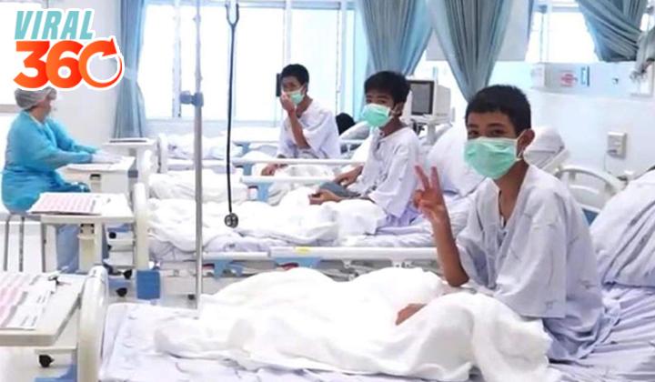 Difunden primer video de niños rescatados en el hospital
