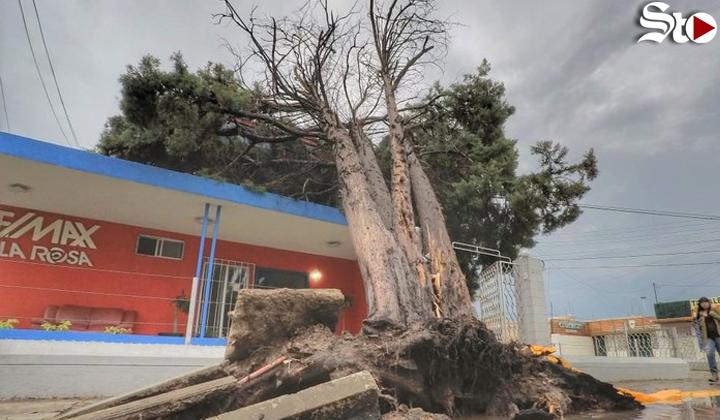 Tormenta colapsa zona sureste de la capital de Durango