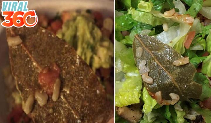 Estadounidenses indignados por 'hojas de árbol' en su comida