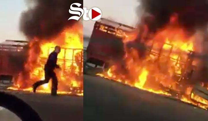 Familia muere calcinada en accidente en la Gómez Palacio-Durango