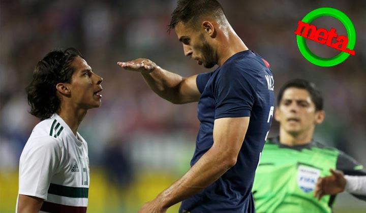 Jugador norteamericano se burla de la estatura de Diego Lainez