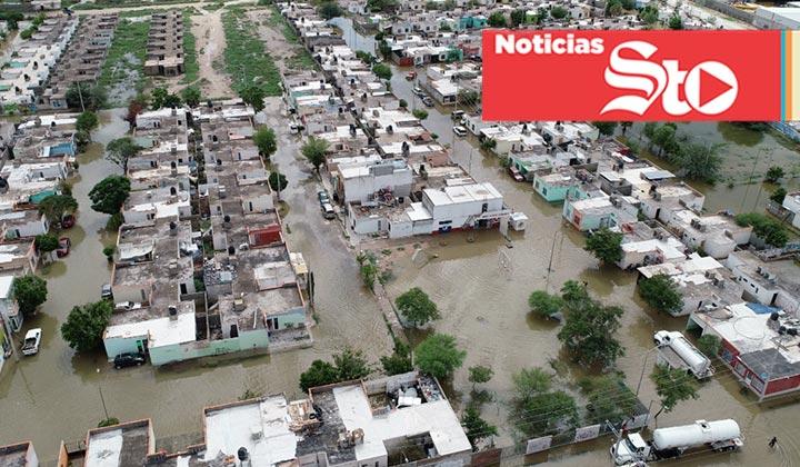 Cien mil afectados por lluvias en Coahuila