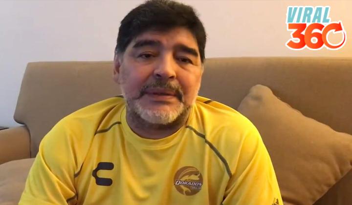 Se solidariza Maradona con damnificados de Sinaloa