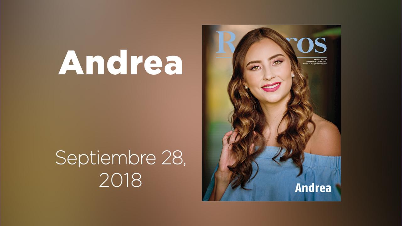 Conoce a la guapísima Andrea en la galería animada de Rostros