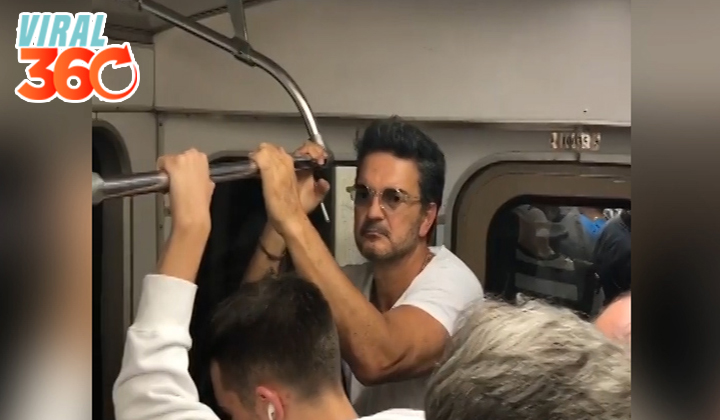 Arjona viaja en metro y nadie lo reconoce