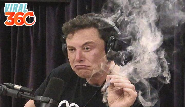 Elon Musk fuma marihuana en un programa en vivo