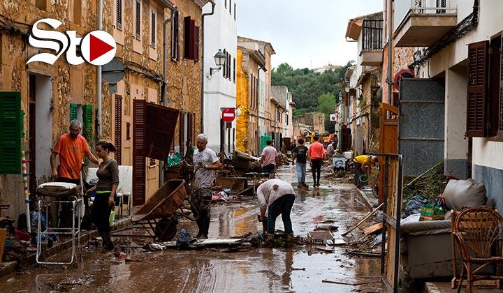 Mallorca es arrasado por las lluvias torrenciales