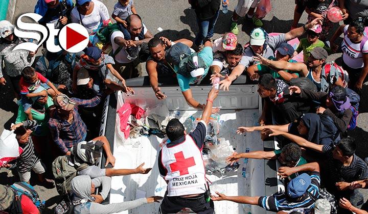 La caravana migrante se topa con la solidaridad de los Mexicanos
