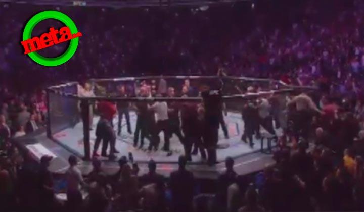 Batalla campal tras el combate entre McGregor y Nurmagomedov