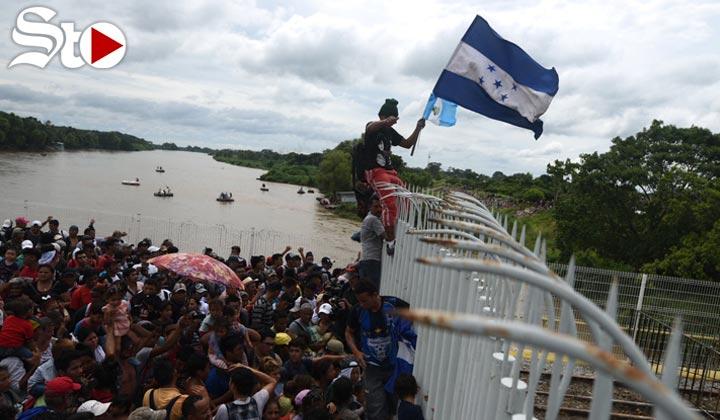 'No nos vamos a quedar en México', migrante hondureña