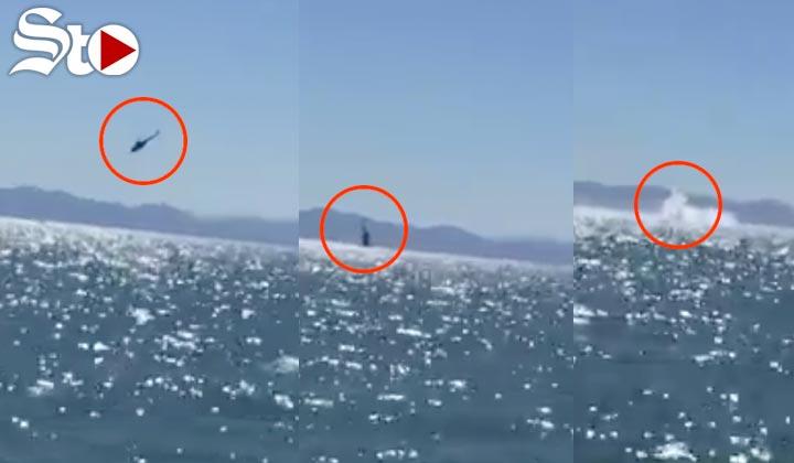Cae helicóptero de la marina; hay un desaparecido