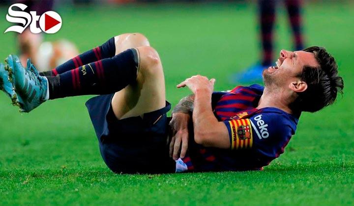 Messi se lesiona el brazo, y da baja por 3 semanas