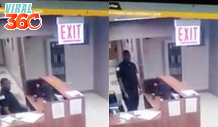 La reacción de un guardia al ver un 'fantasma'