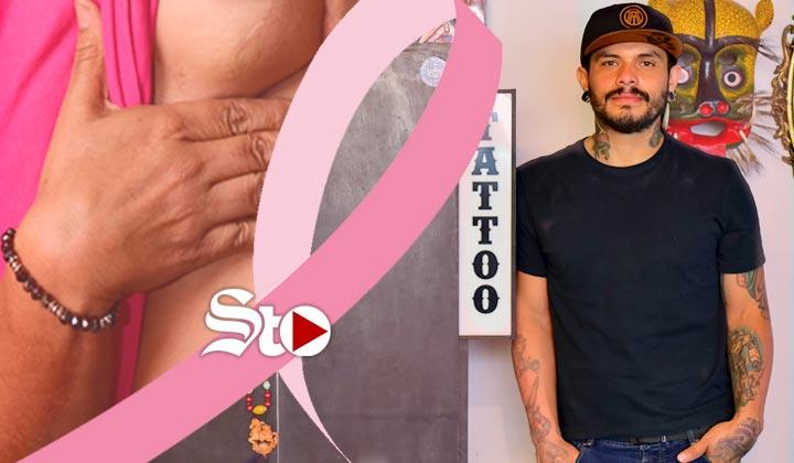El tatuador que regresa la sonrisa a sobrevivientes de cáncer
