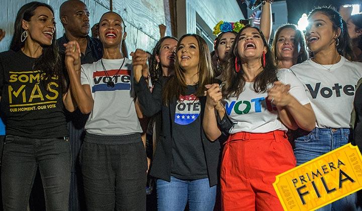 Actrices hispanas promueven el voto latino en Estados Unidos