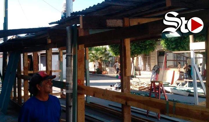 Comienza instalación del 'Mercadito Navideño' de Torreón
