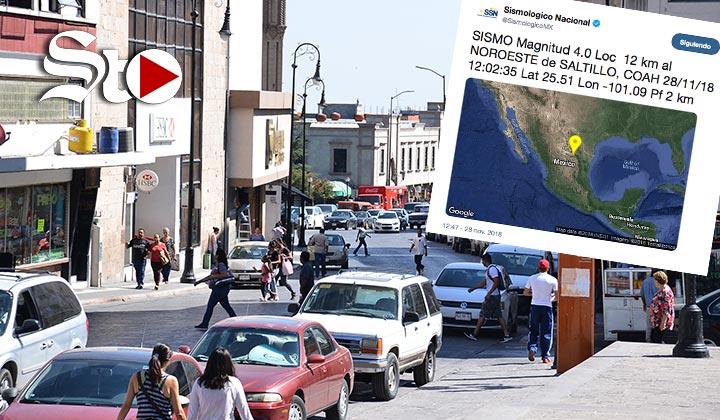 Se registra otro sismo en Saltillo