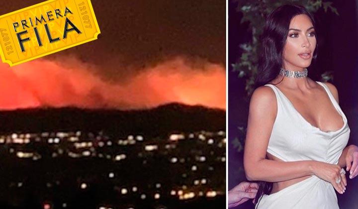 Kim Kardashian evacua su casa tras incendio