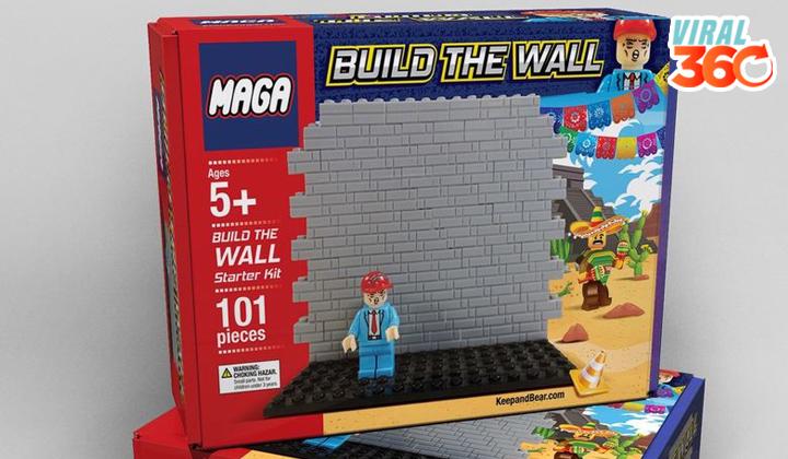 El juguete Lego del muro fronterizo