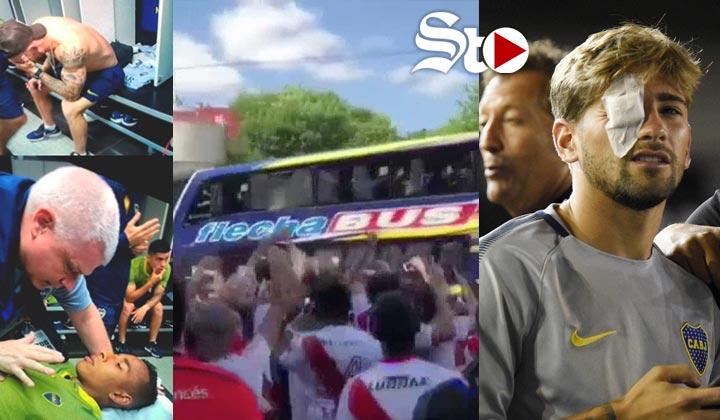 Fanáticos del River atacan autobús del Boca Juniors