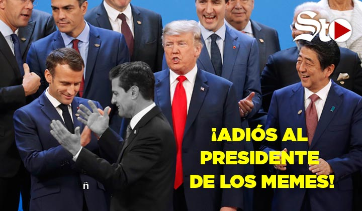 Peña Nieto se despide con memes desde el G-20