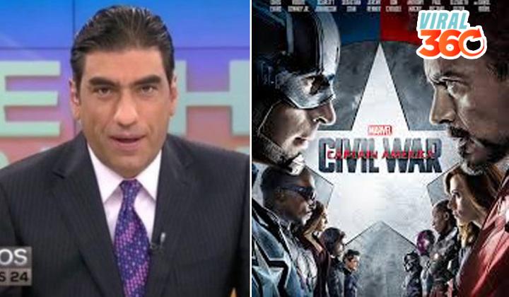 Conductor confunde escena de 'Civil War' con noticia