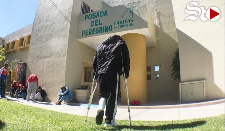 Integrantes de la caravana migrante 'toman fuerza' en Torreón