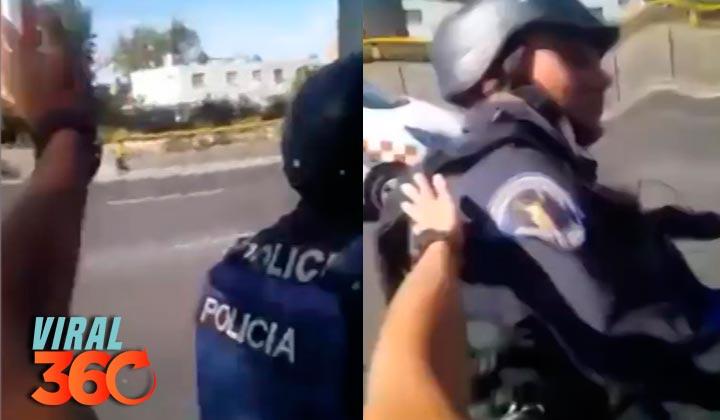 'Zapean' a policías de la Ciudad de México