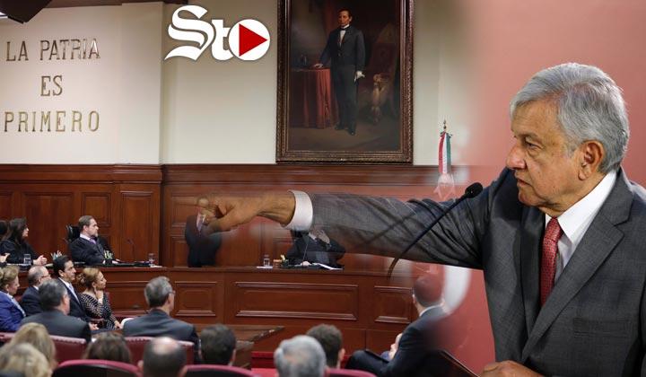 Enfrenta AMLO a Corte por ley de salarios