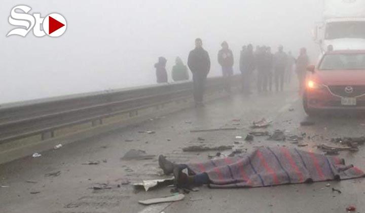 Accidente por neblina deja 2 muertos en la Saltillo-Monterrey