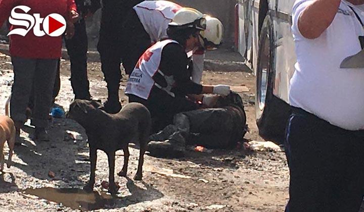 Autobús arrolla a pepenador en Torreón