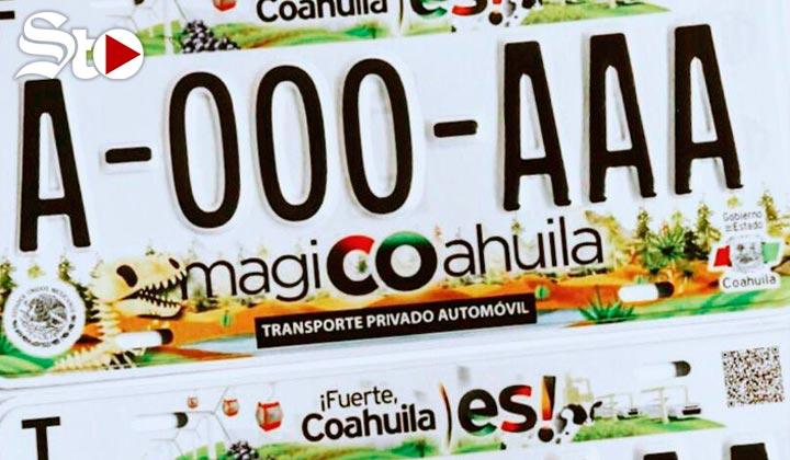 Nuevas placas de Coahuila traen elementos como el Teleférico